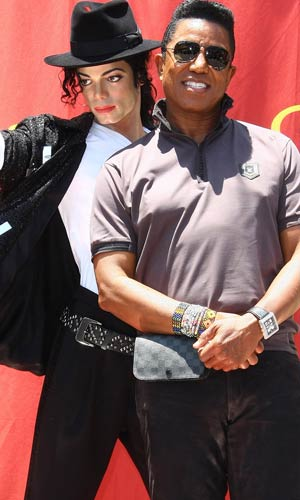 Jermaine Jackson was all smiles at the unveiling of the Michael Jackson Experience exhibit at Madame Tussauds in Hollywood. - Tommaso Boddi/WireImage.com