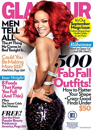 Rihanna rocks the September issue of Glamour . - Ellen von Unwerth/Glamour