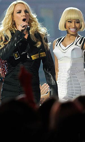 The dynamic duo: Britney Spears and Nicki Minaj - Ethan Miller/Getty Images for ABC