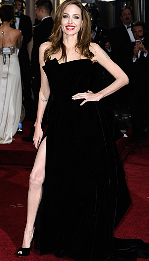 Angelina Jolie at the 2012 Oscars. (Frazer Harrison/Getty Images)