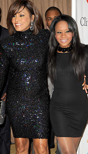 Whitney Houston and Bobbi Kristina. (Jeff Kravitz/FilmMagic)