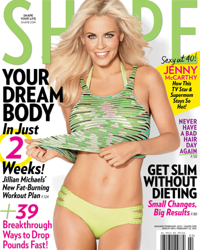 Jenny McCarthy on Shape Magazine (Shape/Nino Munoz)