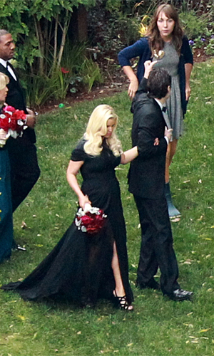 Jessica Simpson at best friend CaCee Cobb's wedding (INFphoto.com)
