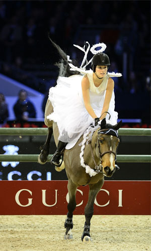 Jessica Springsteen at the Gucci Paris Masters 2012 (Getty Images)