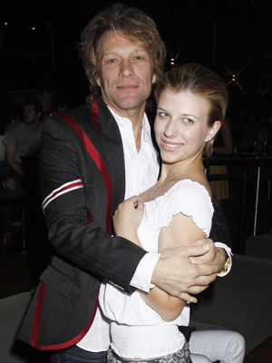 Jon Bon Jovi and daughter Stephanie. (Dave M. Bennett/Getty Images)