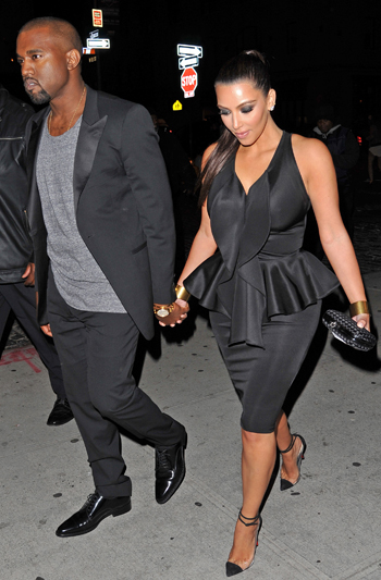 West and Kardashian in NYC (JosiahW / Splash News)