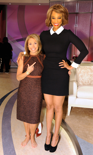 Tyra Banks and Katie Couric (Getty Images)