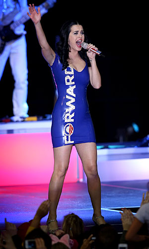 Katy Perry has been stumping for Obama. (Scott Olsen/Getty Images)