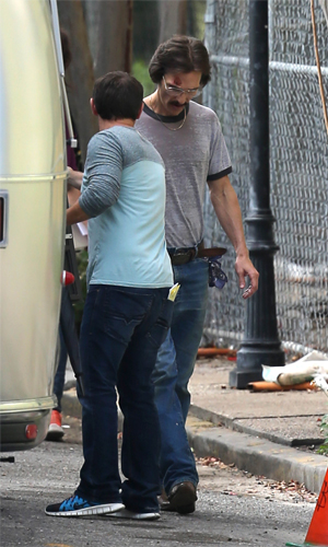 Matthew McConaughey on set in New Orleans (Splash News)