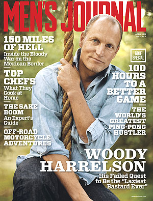 Woody Harrelson covers Men's Journal. (Courtesy of Men's Journal).