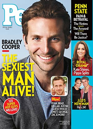 Bradley Cooper is named People's Sexiest Man of the Year. Ben Watts/People