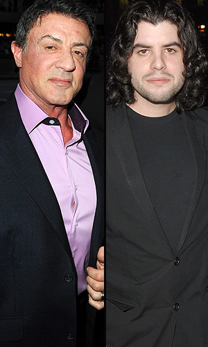 Sylvester Stallone and son Sage. (Wireimage)