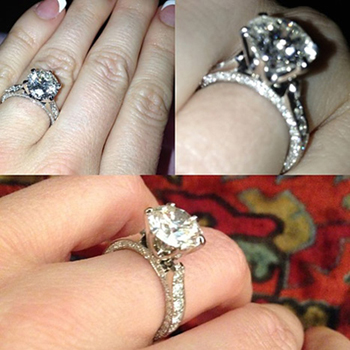 Crystal's engagement ring (Crystal Harris)