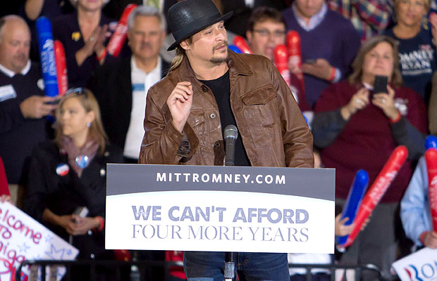 Kid Rock performed at Romney's final rally on Monday night. (Scott Legato/Getty Images)