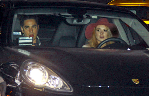 Lohan and a pal were also at Chateau Marmont Wednesday night. (Josephine Santos/PacificCoastNews)