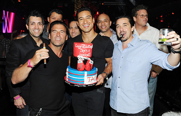 Mario Lopez and friends at TAO in Las Vegas. (WireImage)