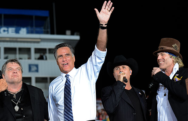 Meat Loaf announced his support for Romney in late October. (Emmanuel Dunand/AFP/Getty Images)