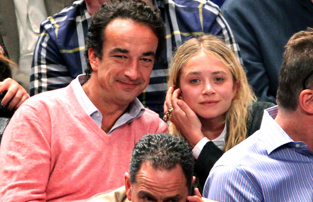 Olsen and Sarkozy at a NY Knicks game in April (Wenzelberg/Splash News)