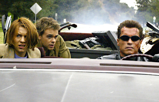 With Claire Danes and Arnold Schwarzenegger in 2003's T3. (Everett)