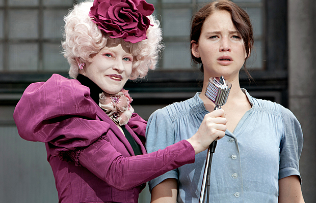 Elizabeth Banks and Jennifer Lawrence in Hunger Games. (Lionsgate)
