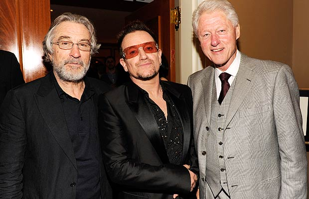 President Bill Clinton has a lot of famous friends like Robert De Niro and Bono. - Kevin Mazur/WireImage.com