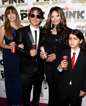 La Toya Jackson with Paris, Prince, and Prince II, who is better know as 'Blanket' (Getty Images)