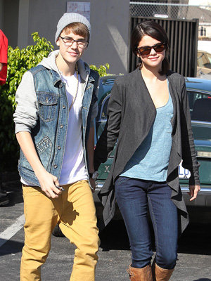 Justin Bieber and Selena Gomez before their recent split (Clint Brewer/Splash News)