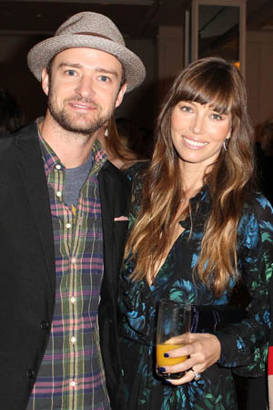 Mr. and Mrs. Timberlake. (Getty Images)