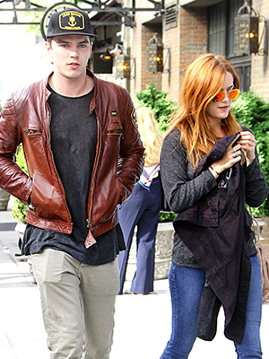 Nicholas Hoult and Riley Keough on May 7 (Said Elatab / Splash News)
