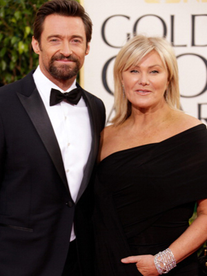 Jackman and Furness at the Golden Globes. (Jeff Vespa/Wire Image)
