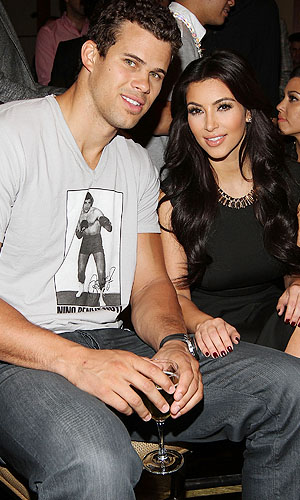 Kris Humphries and Kim Kardashian ... in happier times. (Getty Images)
