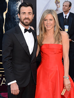Justin Theroux and Jennifer Aniston at the Oscars (Jason Merritt/Getty Images)