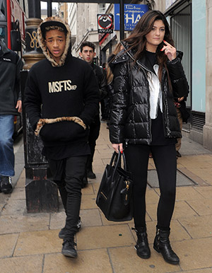 Jaden Smith and Kylie Jenner in London (Splash News)