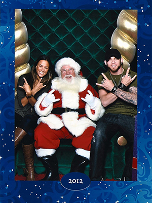 Jana, Brantley, Santa (Courtesy of Kramer and Gilbert)
