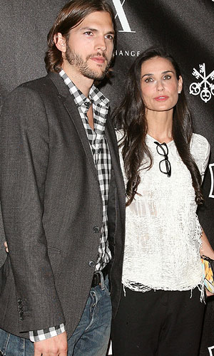 Kutcher and Moore. (WireImage)