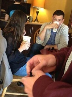 Cory Monteith and Lea Michele in Canada (Twitter)