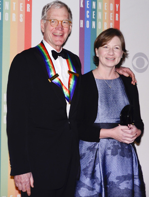 Letterman and Lasko at the Kennedy Center Honors in December. (Getty Images)