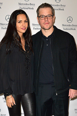 Matt Damon and wife Luciana (Gustavo Caballero/Getty Images)