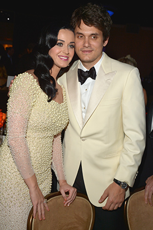 Katy Perry and John Mayer at pre-Grammy party (Getty Images)