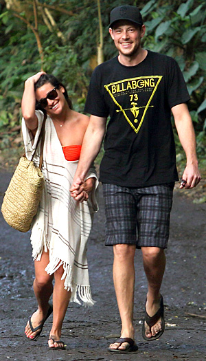 Lea Michele and Cory Monteith on vacation recently in Hawaii (FameFlynet)