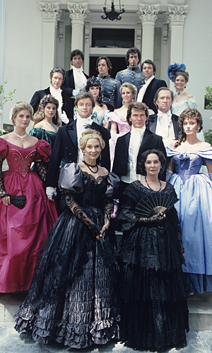 North and South starred Swayze (center) and Alley (far left, in green dress). (ABC)