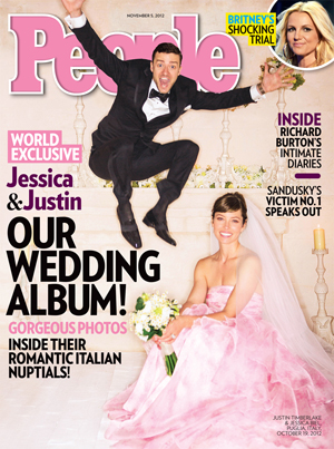 The Timberlakes shared their wedding photos with People magazine.