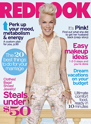 Pink on the cover of Redbook (Andrew Macpherson / Redbook)