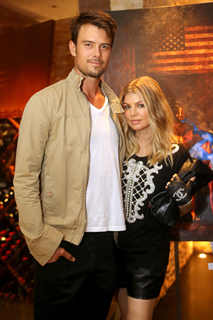 Josh and Fergie. (Rachel Murray/WireImage)