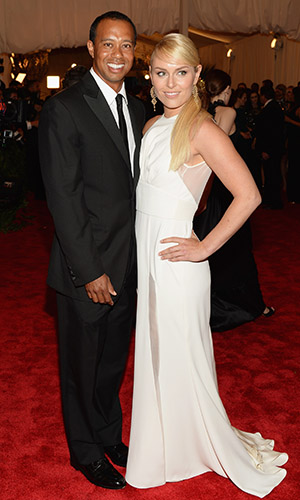 Tiger Woods and Lindsey Vonn at the Met Gala. (Dimitrios Kambouris/Getty Images)