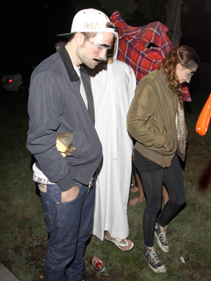 The couple hit a Halloween party together. (PacificCoastNews.com)