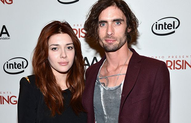 Tyson Ritter and Elena Satine. (Getty Images)