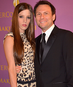 Christian Slater and Brittany Lopez (Getty Images)