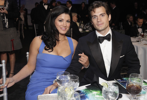 Gina Carano and Henry Cavill on January 10 (Getty Images)
