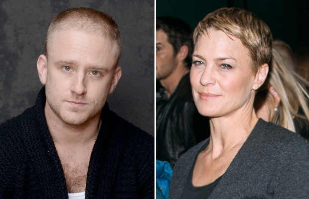 Ben Foster and Robin Wright. (Jeff Vespa/Mark Sagliocco/WireImage/Splash News)